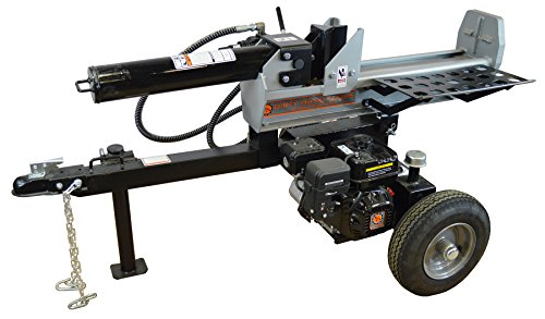Frictionless World Half Beam Log Splitter, 22 Tons, Silver/Black