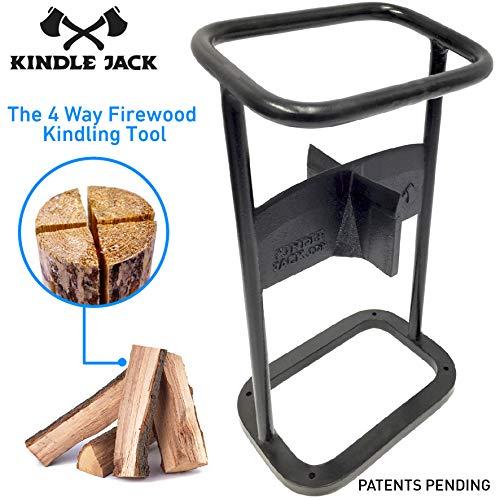 EasyGoProducts Jack Axe Wedge Firewood Kindling Tool Cuts 4 Ways