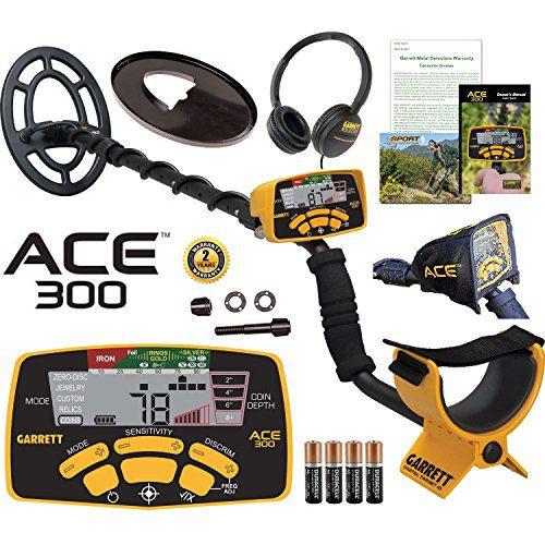 Garrett ACE 300 Metal Detector with Waterproof Coil and Headphone