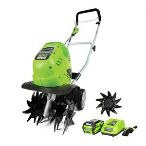 Greenworks 10-Inch 40V Cordless Cultivator with Extra Tines