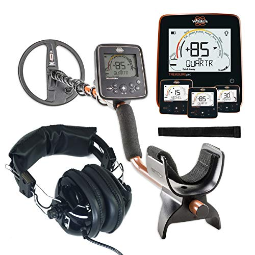 "Whites TreasurePro Metal Detector with 10"" DD Waterproof Coil"