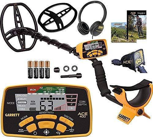 Garrett Ace 400 Metal Detector with Waterproof Coil and Headphone