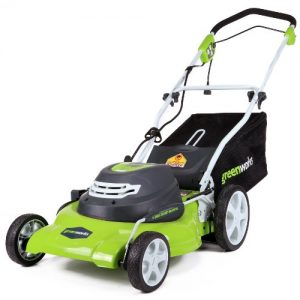 GreenWorks 20-Inch 12 Amp Corded Electric Lawn Mower