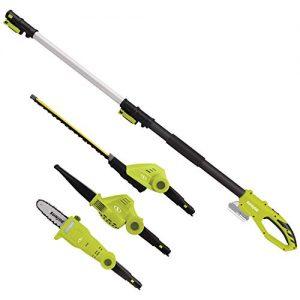 Sun Joe Garden Tool System, (Hedge Trimmer, Pole Saw, Leaf Blower)