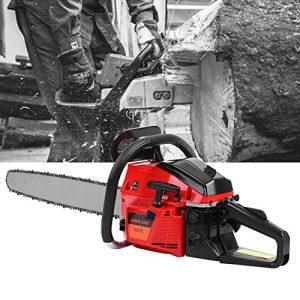 """Ridgeyard 22"""" Professional 2-Stroke Petrol Chainsaw Wood Cutting"""