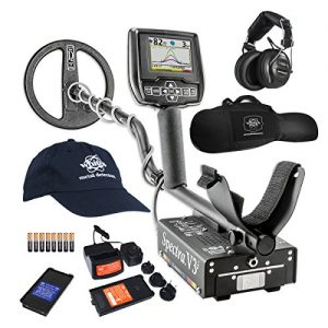 White's Spectra V3i HP Metal Detector with Padded Gun Style