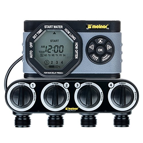 Melnor 4-Outlet Digital Water Timer Simple and Flexible Programming