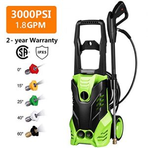 Homdox 3000 PSI Electric Pressure Washer Power Washer 1800W