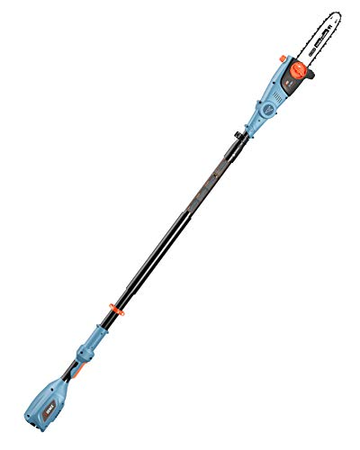SENIX CSPX5-M-0 10 Inch 58V Cordless Pole Saw to Reach Branches up to 14 Feet Above, Blue