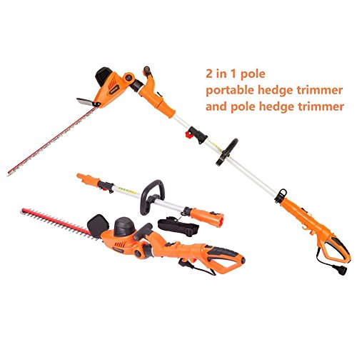 """NBCYHTS Corded Electric Hedge Trimmer with 20"""" Laser Blade"""