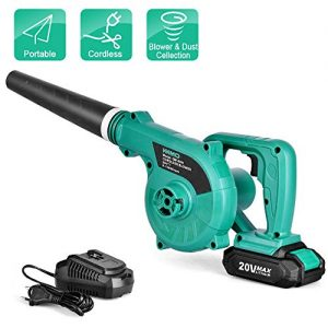 Cordless Leaf Blower - KIMO 20V Lithium 2-in-1 Sweeper/Vacuum