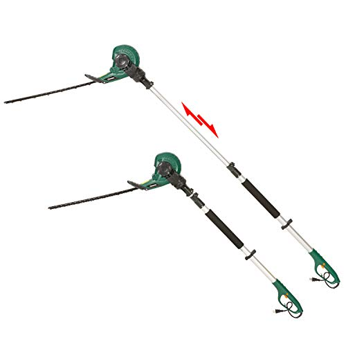 DOEWORKS 2 in 1 Corded Pole Hedge Trimmer with Rotating Handle