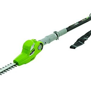 Earthwise 17-Inch 24-Volt Lithium Ion Cordless Electric Pole Hedge Trimmer