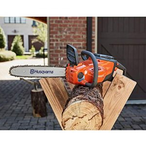 Husqvarna 120i 14 Inch Cordless Battery Powered Chainsaw, Orange