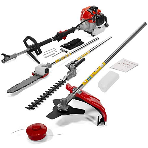 Stark 7ft Long Reach 4 in 1 Gas Chainsaw Trimmer Pole Saw Grass