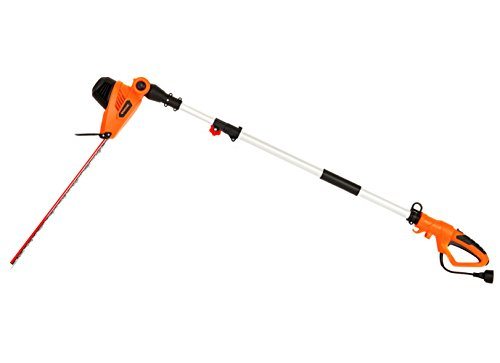 GARCARE 4.8-Amp Multi-Angle Corded Pole Hedge Trimmer