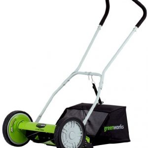 Greenworks 16-Inch Reel Lawn Mower with Grass Catcher
