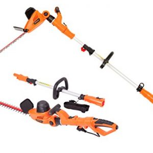 GARCARE 4.8A Multi-Angle Corded 2 in 1 Pole and Portable Hedge Trimmer