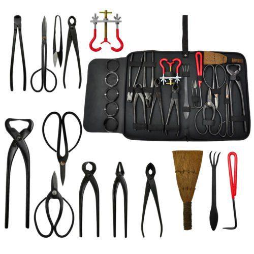 14pcs Bonsai Tool Set Kit Scissors Cutter Carbon Steel Shears