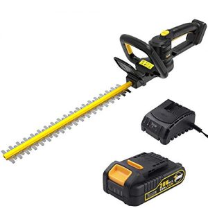 TECCPO Hedge Trimmer, 20in. Blade Length, 3/4in. Cutting Thickness