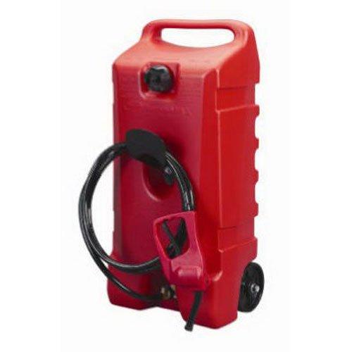 DuraMax Flo n' Go LE Fluid Transfer Pump and 14-Gallon Rolling Gas Can