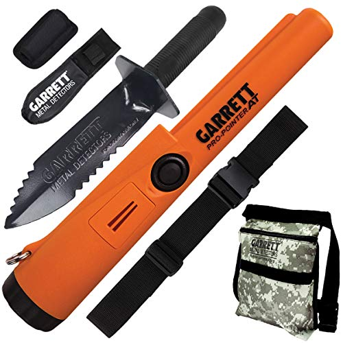 Garrett Pro Pointer AT Detector Waterproof with Camo Pouch Edge Digger and Belt