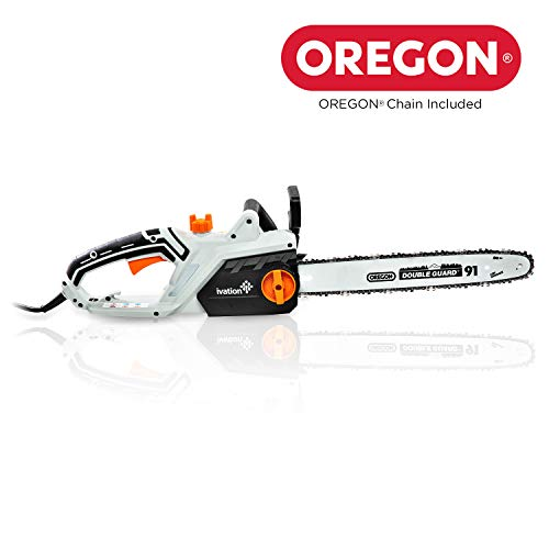 Ivation Electric Chainsaw 16-Inch 15.0 AMP with Auto oiling, Automatic Tension