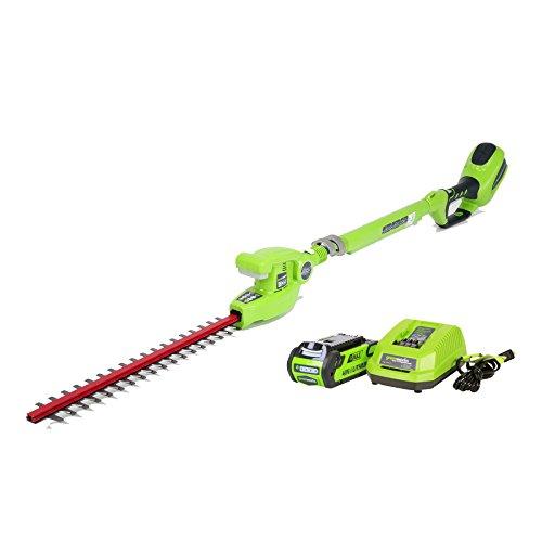 Greenworks 20-Inch 40V Cordless Pole Hedge Trimmer