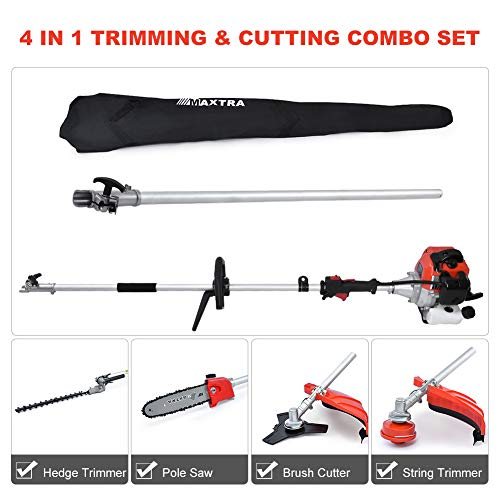 Maxtra 42.7cc Gas Pole Tree Trimming Combo Set 4 in 1 Cordless