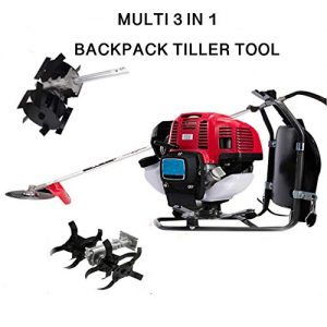 CHIKURA Multi 3 in 1Backpack 52cc asoline Mini Tiller Cultivator