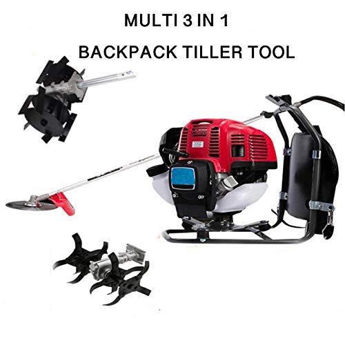 CHIKURA Multi 3 in 1Backpack 52cc asoline Mini Tiller Cultivator