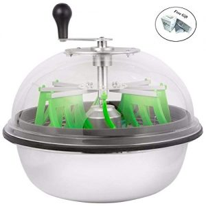 """Eight24hours 16"""" Leaf Food Grade Silicone Bowl Trimmer Twisted Spin"""