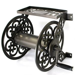 Liberty Garden Steel Decorative Wall Mount Garden Hose Reel