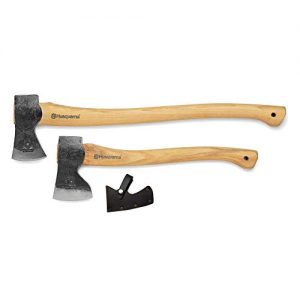 "Husqvarna 26"" Curved Hickory Handle Logger Forest Axe"
