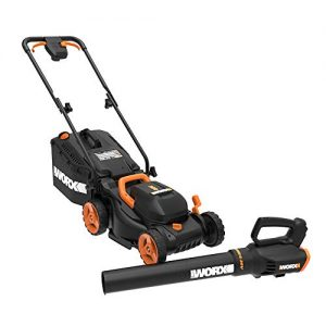 WORX 14-inch 40V (4.0AH) Cordless Lawn Mower and Power Share Cordless Turbine Blower Battery and Charger Included