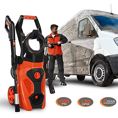 ENSTVER Electric Power Washer, 2100PSI 1.8 GPM Pressure