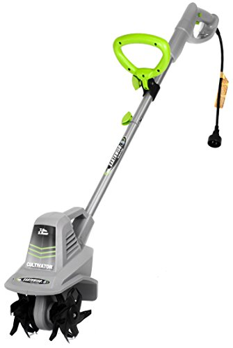 Earthwise 7.5-Inch 2.5-Amp Corded Electric Tiller/Cultivator, Grey