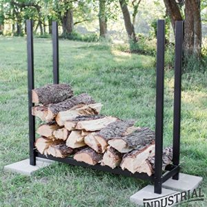 100% Steel Deluxe 4-ft Firewood Log Rack - Heavy Duty