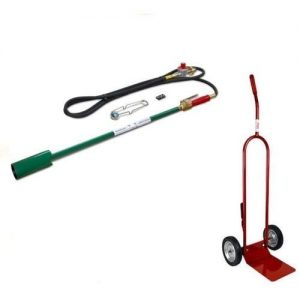 Weed Dragon Propane Torch with Squeeze Valve and Dolly