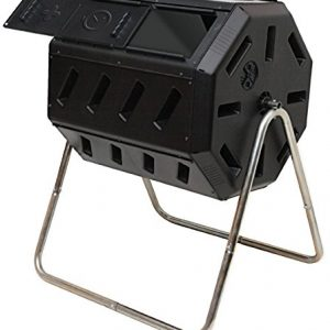 FCMP Outdoor Tumbling Composter, 37 gallon, Black