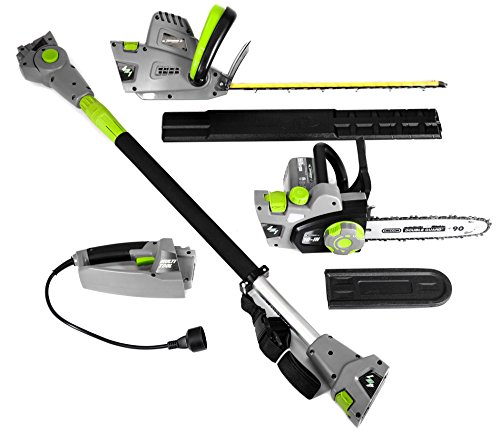 Earthwise 4-in-1 Multi Tool Polesaw, Chainsaw, Pole Hedge