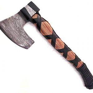 Ottoza Custom Handmade Damascus Tomahawk Axe 18 inch