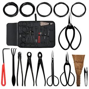 Aonepro Bonsai Tool Kit 10PCS Set Carbon Steel Shear Cutter