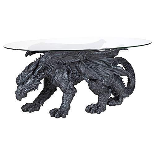 Design Toscano Warwickshire Dragon Gothic Decor Glass