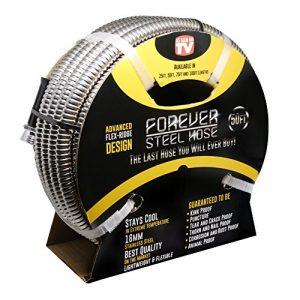 Forever Steel Hose 50' 304 Stainless Steel Garden Hose