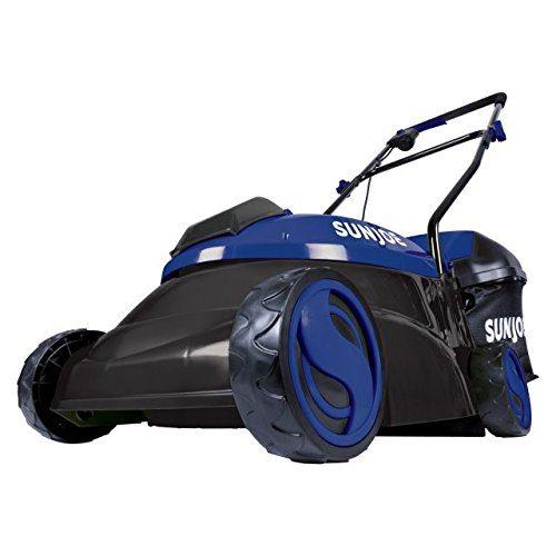 Sun Joe 14-Inch 28V 5 Ah Cordless Lawn Mower w/Brushless Motor, Blue
