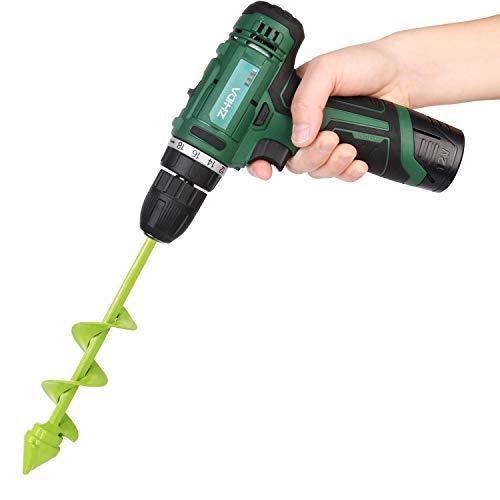 "BLIKA Garden Plant Flower Bulb Auger 1.6"" x 9"" Rapid Planter"