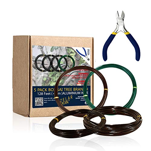 ZELARMAN Bonsai Training Wire Set of 4 - Total 128 Feet