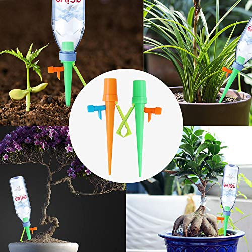Plant Self Watering Spikes, Drip Irrigation Kit with Adjustable Slow Release Switch