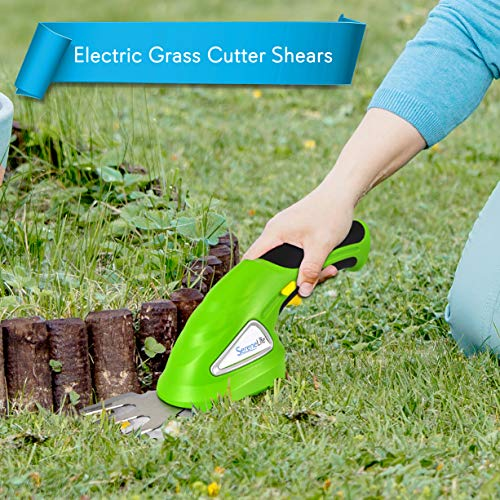 SereneLife Battery Grass Cutter, Grass Clippers Cordless